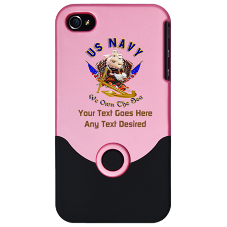 Navy Gifts (Any Text Desired) iPhone 4 Slider Case