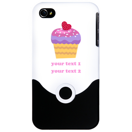 PERSONALIZE Fruit Cupcake iPhone 4 Slider Case