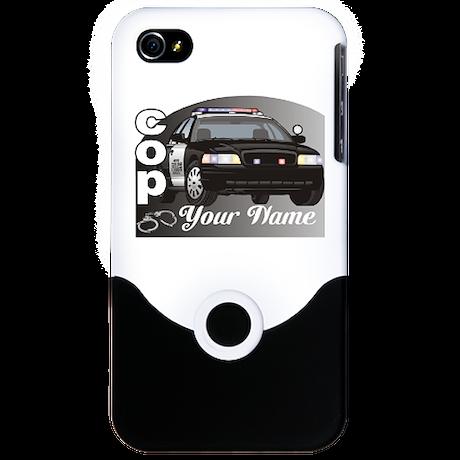 Custom Personalized Cop iPhone 4 Slider Case