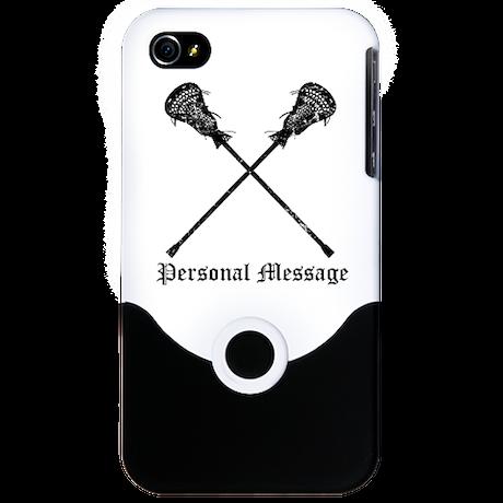 Personalized Lacrosse Sticks iPhone 4 Slider Case