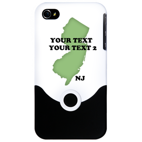 NJ YOUR TEXT iPhone 4 Slider Case
