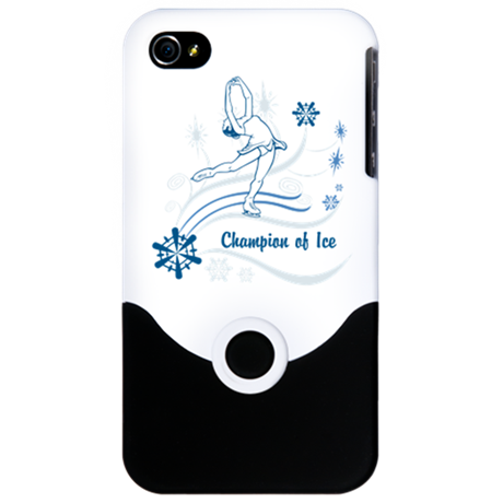Personalized Ice Skater iPhone 4 Slider Case