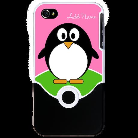 Add Name Cute Penguin iPhone 4 Slider Case
