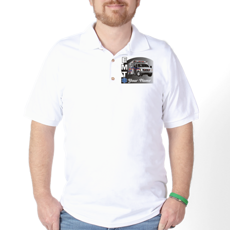 Custom Personalized EMT Golf Shirt