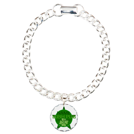 Custom Irish Pub Charm Bracelet, One Charm