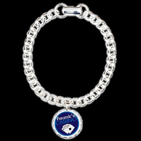 Personalized Casino Charm Bracelet, One Charm