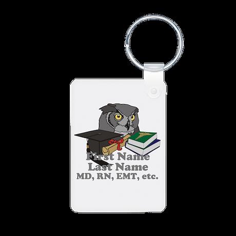 Custom Owl Medical Graduate Aluminum Photo Keychai