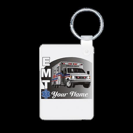 Custom Personalized EMT Aluminum Photo Keychain