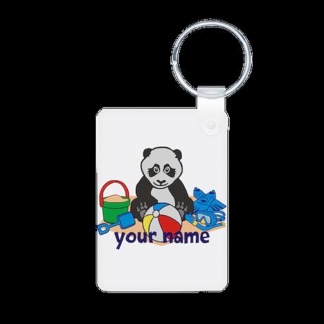 Personalized Beach Panda Keychains
