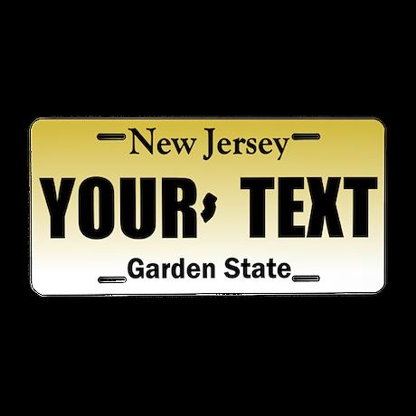 New Jersey Aluminum License Plate Replica