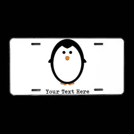 Personalized Penguin Aluminum License Plate