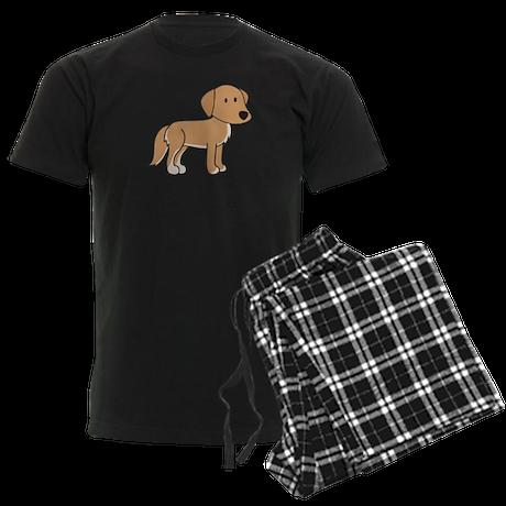 Cute Retriever Men's Dark Pajamas