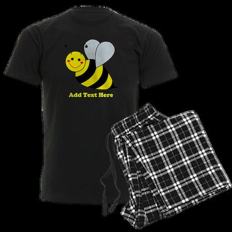 Cute Bumble Bee Men's Dark Pajamas