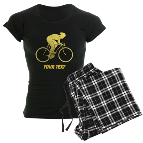 Yellow Cycling Design and Text. Pajamas
