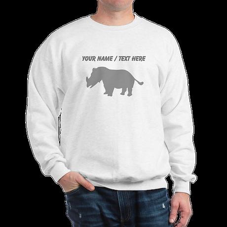 Personalized Baby Rhino Silhouette Sweatshirt