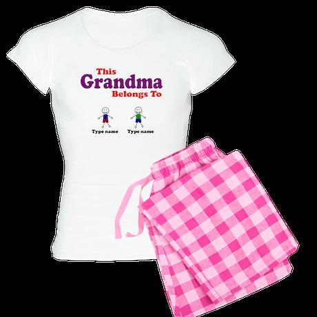 Personalized Grandma 2 boys Women's Light Pajamas