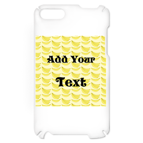 Banana Pattern with Custom Te iPod Touch 2 Case