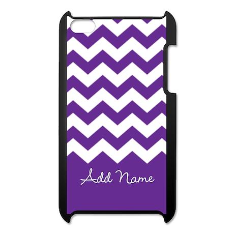 Add Name - purple chevron iPod Touch 4 Case