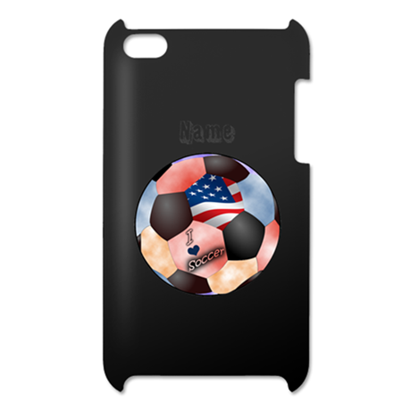 I Love Soccer (personalized) iPod Touch 4 Case