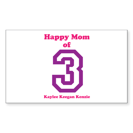 Personalized Mother Sticker (Rectangle)