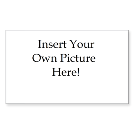 Upload your own picture Sticker (Rectangle)