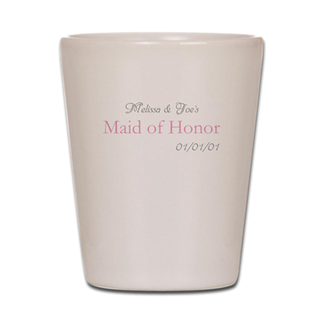 Custom Maid of Honor Shot Glass