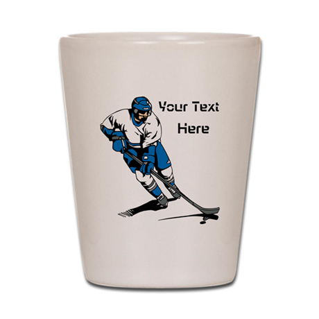 Icy Hockey. With Your Text. Shot Glass