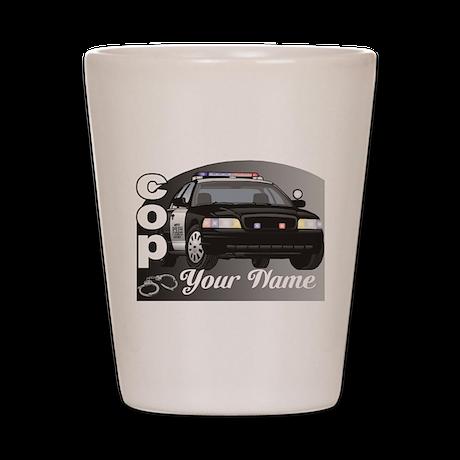 Custom Personalized Cop Shot Glass