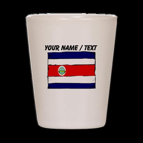 Custom Costa Rica Flag Shot Glass