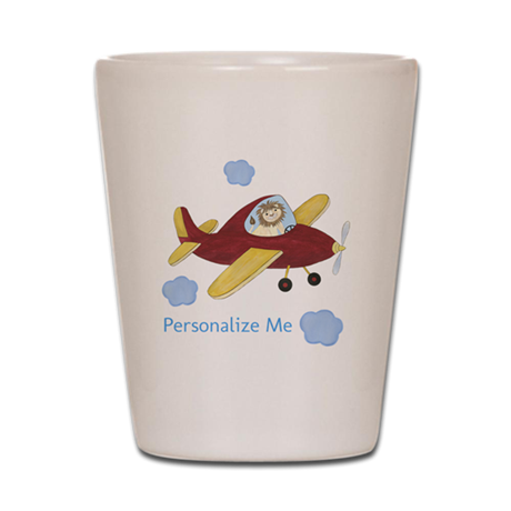 Personalized Airplane Shot Glass