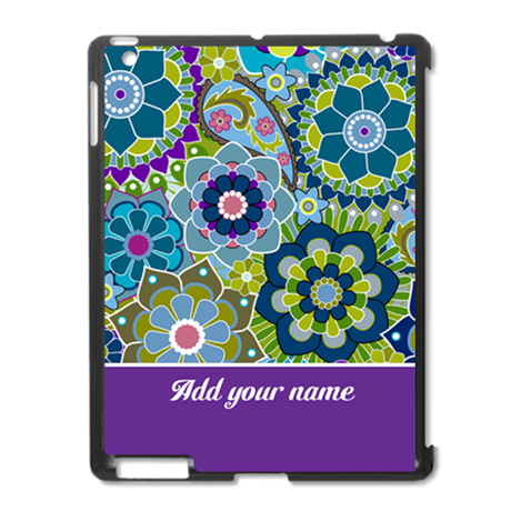 funky retro floral pattern iPad2 Case