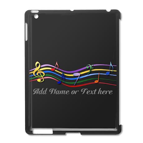 Personalized Rainbow Musical iPad2 Case