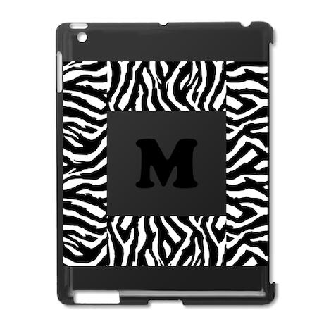 Zebra Print. Custom Letter. iPad2 Case