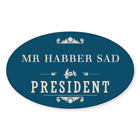 For President 1_Oval Sticker