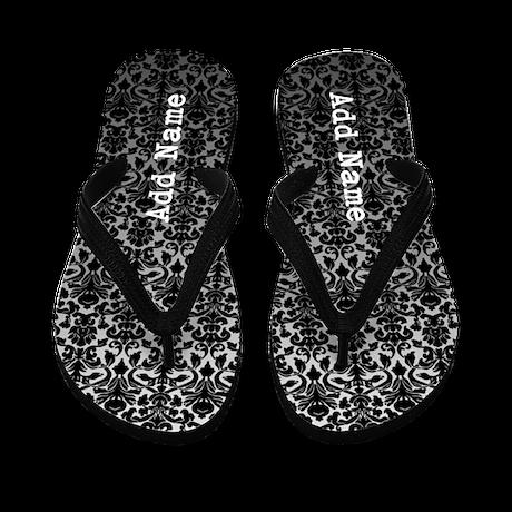 damask add name Flip Flops