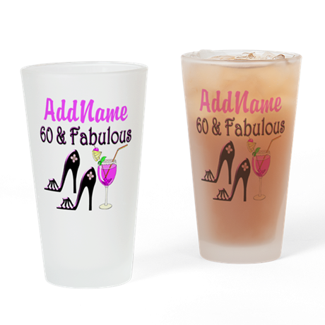 60TH PARTY Drinking Glass