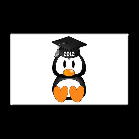 Custom Graduation Penguin Car Magnet 20 x 12