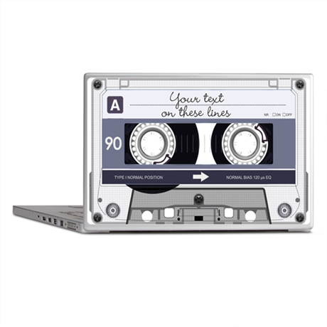 cassette laptop covers customizable cassette tape grey laptop