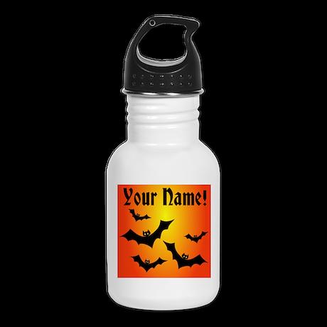 Personalized Halloween Bats Kid's Water Bottle