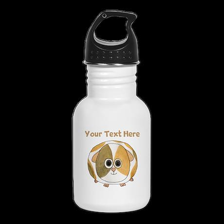 Guinea Pig. Custom Text. Kid's Water Bottle