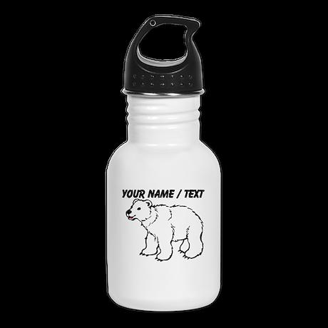 Custom Baby Polar Bear Kid's Water Bottle