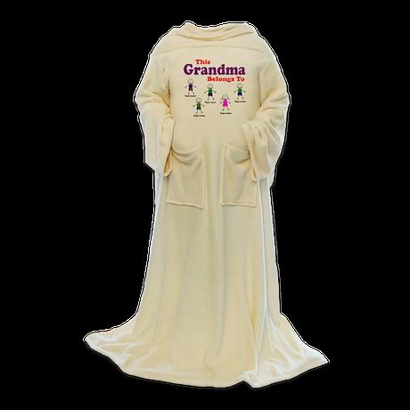 Personalized Grandma 5 kids Blanket Wrap