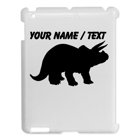 Custom Triceratops Silhouette iPad 2 Hard Case