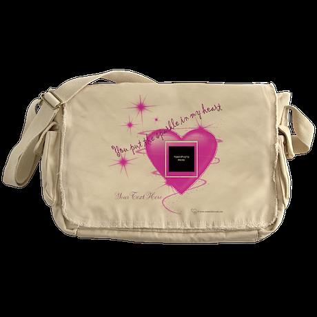 Heart Sparkle Messenger Bag