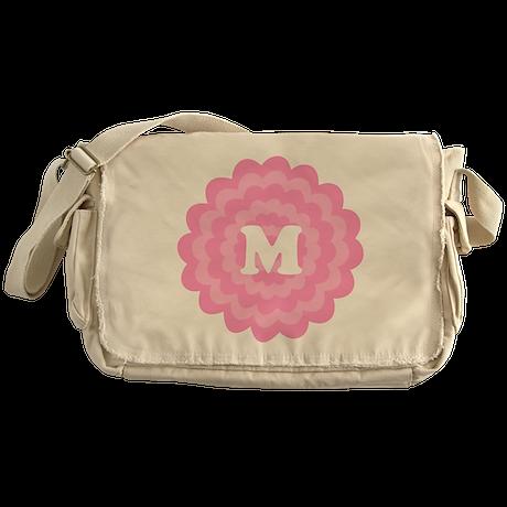 Your Letter on Pink Flower. Messenger Bag