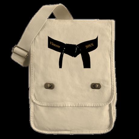 Custom Martial Arts Black Belt Field Bag