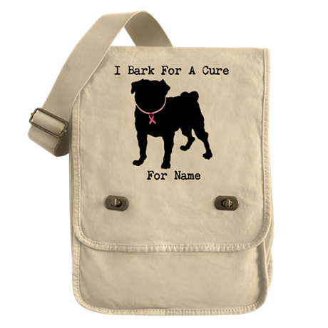 Pug Personalizable Bark For A Field Bag