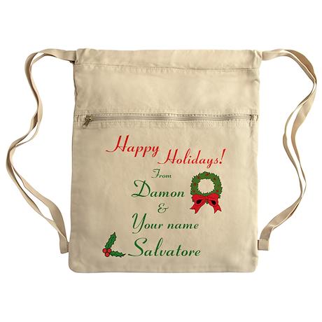 Happy Holidays, Damon & You Cinch Sack
