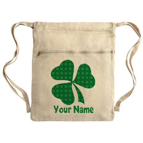 Personalized Irish Shamrock Cinch Sack
