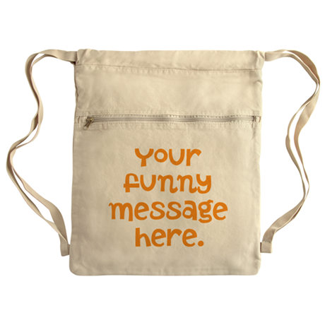 four line funny message Cinch Sack